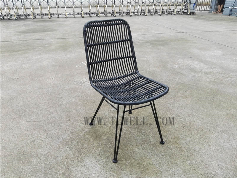 Tuwell-Find TW8714 Steel Rattan Chair-8