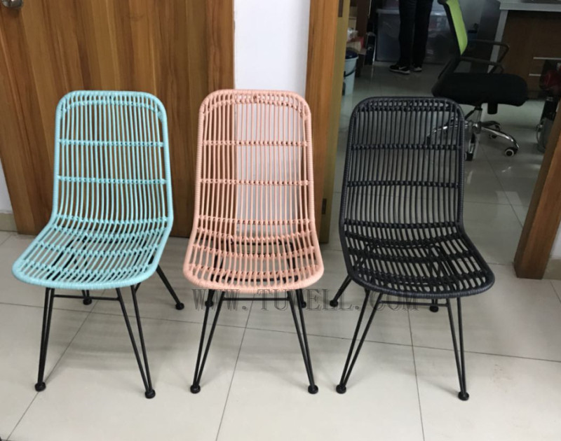 Tuwell-Find TW8714 Steel Rattan Chair-10