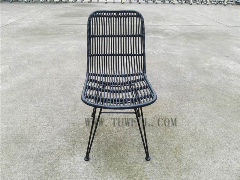Tuwell-Find TW8714 Steel Rattan Chair-9