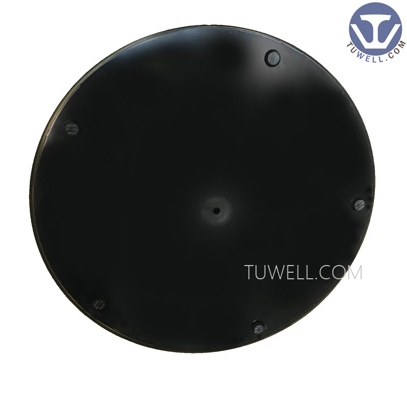 Tuwell- Stainless Steel Electroplating Gold Table Base   Round Metal Table-5