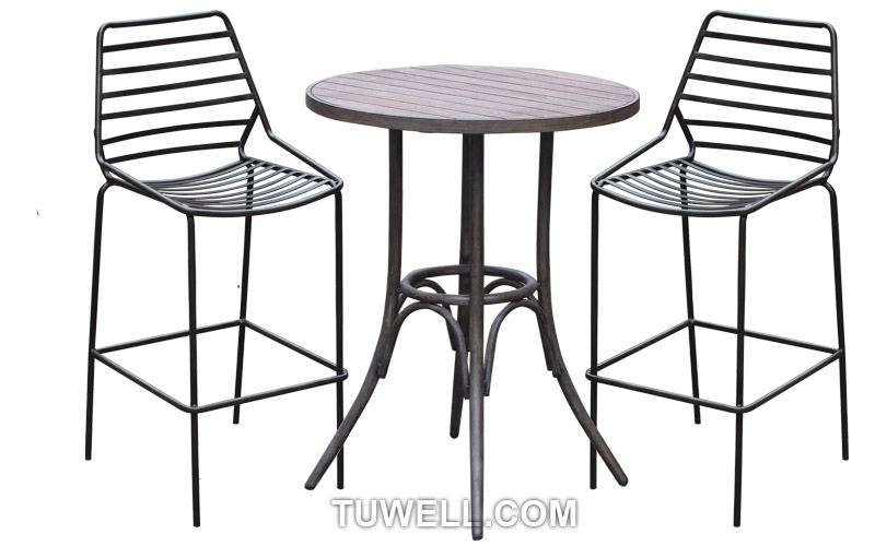 Tuwell-Find Tw9001-l Metal Barstool, Steel Barchair For Dining | Manufacture-4