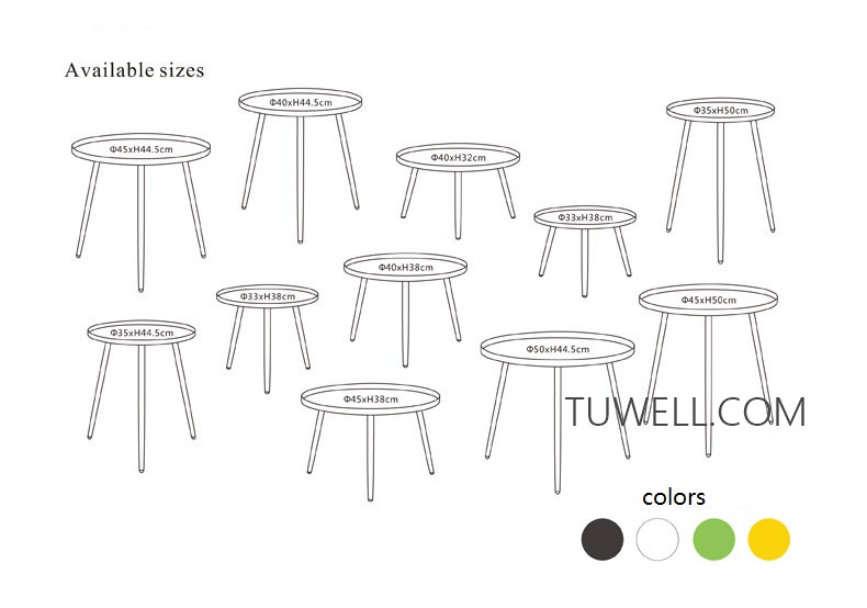 Tuwell-Best Tw8747 Metal Coffee Table Tea Table Manufacture-5