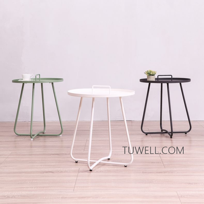 Tuwell-Professional Tw8746 Metal Coffee Table Cafe Table Tea Table Supplier-4