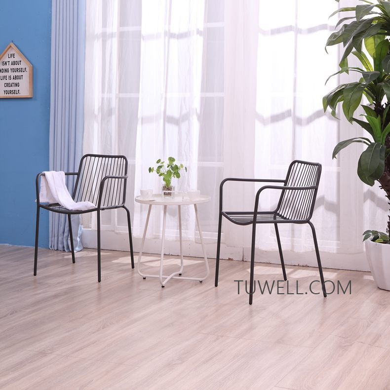 Tuwell-Professional Tw8746 Metal Coffee Table Cafe Table Tea Table Supplier-7