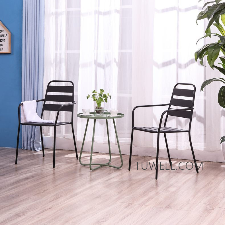 Tuwell-Professional Tw8746 Metal Coffee Table Cafe Table Tea Table Supplier-9