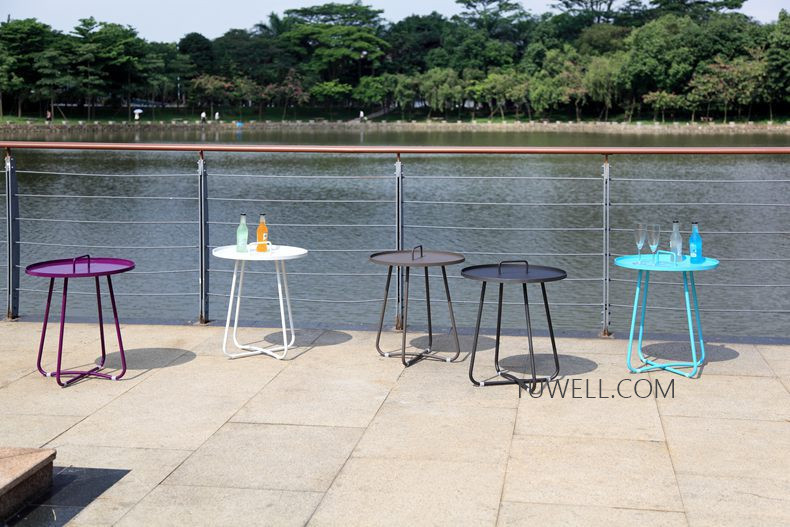 Tuwell-Professional Tw8746 Metal Coffee Table Cafe Table Tea Table Supplier-14