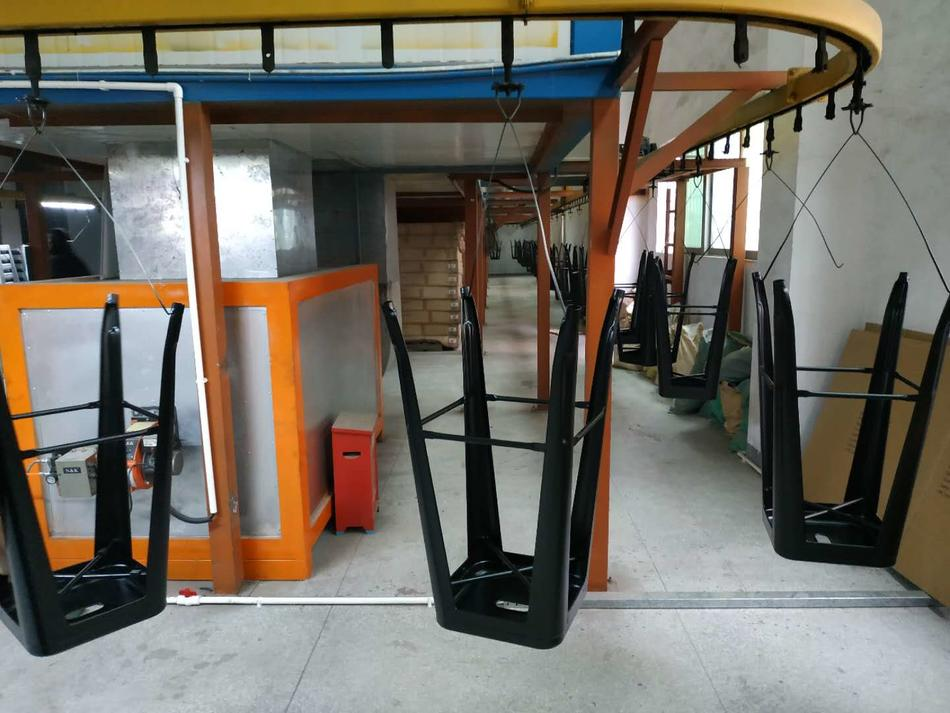 TUWELL furniture's powder coating line part 2