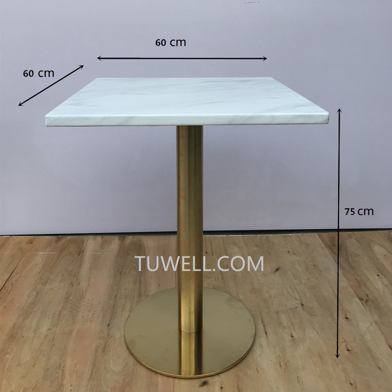 Tuwell-Bar Height Table And Chairs | Tw7044 Artificial Quartz Stone Table-4