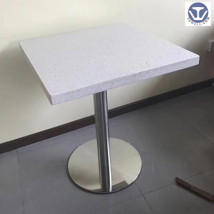 TW7045 Artificial quartz stone table, coffee table, restaurant table