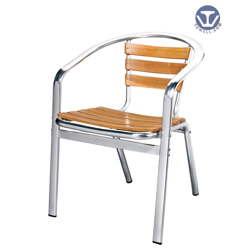 TW4013 Aluminum wooden chair Leisure chair