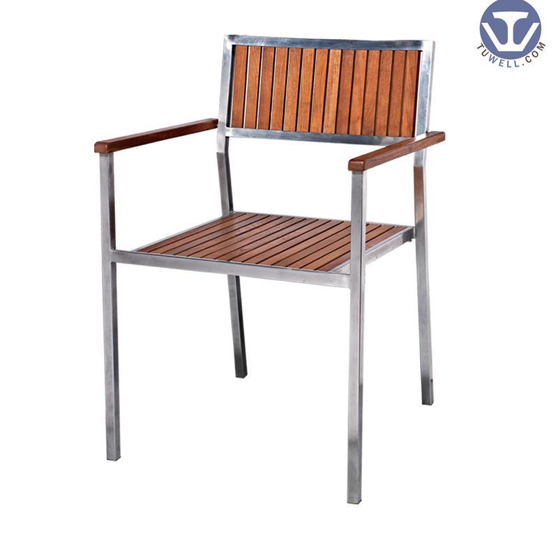 TW4016 Aluminum wooden chair Leisure chair