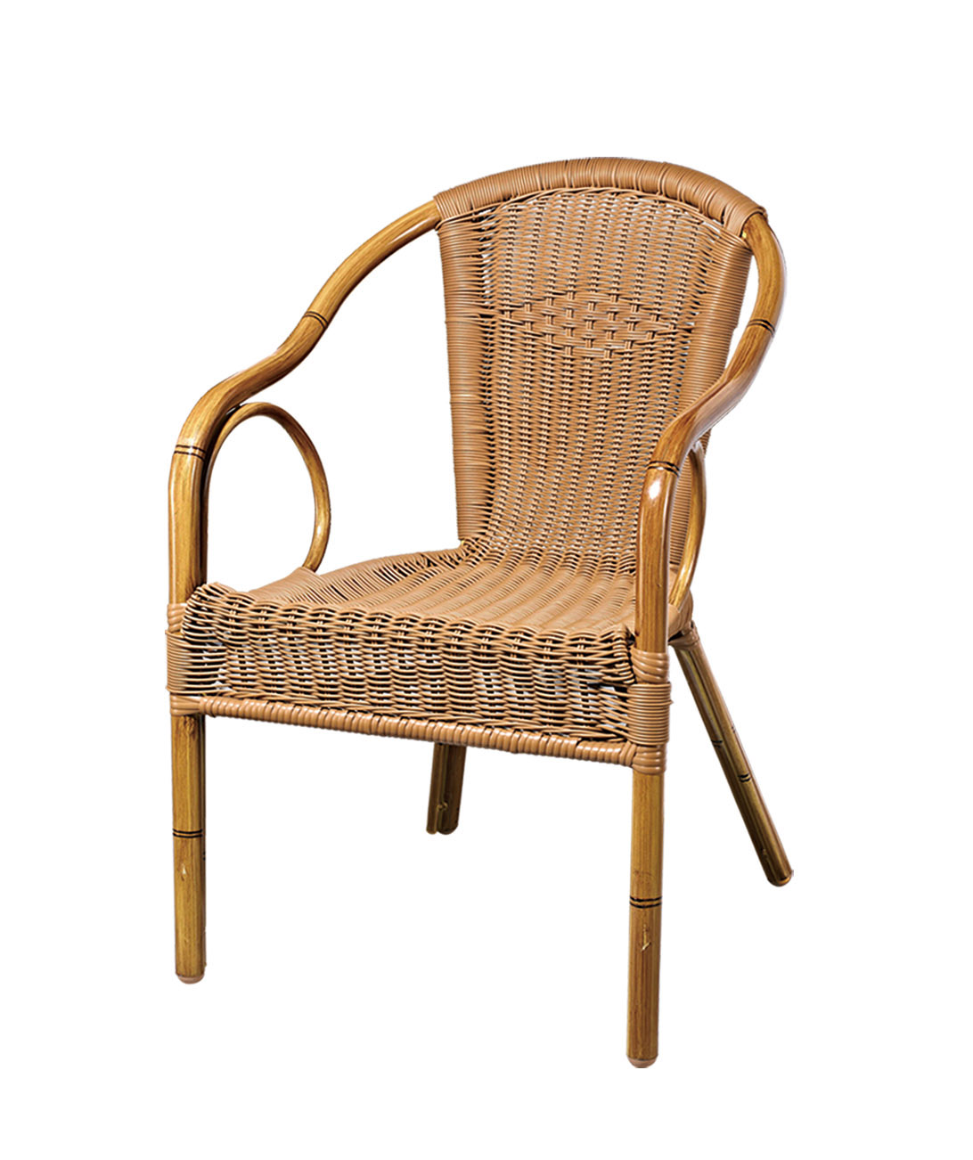 Tuwell-Best Tw3001 Aluminum Rattan Bar Chair Small Rattan Chairs-4