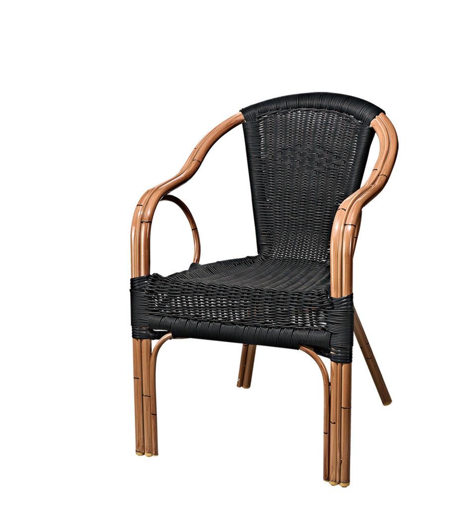 TW3002  aluminum rattan chair dining chair