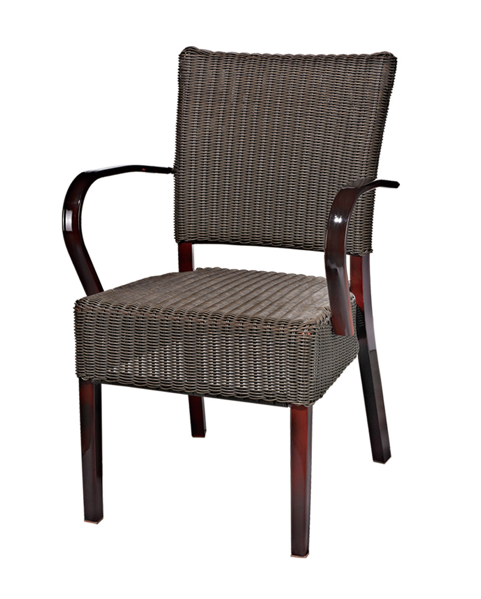 Tuwell-Best Tw3003 Aluminum Rattan Bar Chair Small Rattan Chairs-4