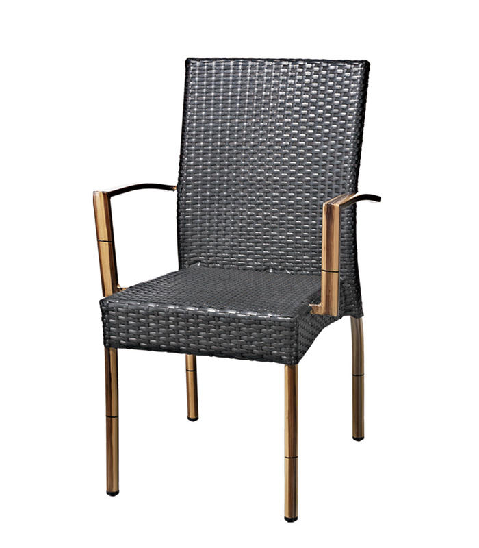TW3004 aluminum rattan chair