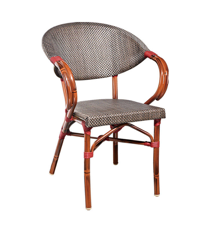 TW3005 aluminum rattan chair