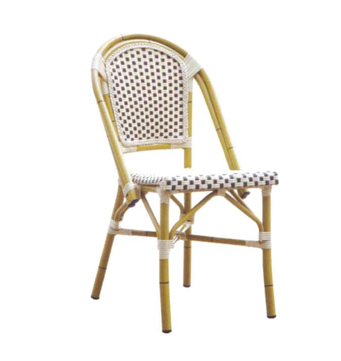 TW3012  aluminum rattan chair dining chair