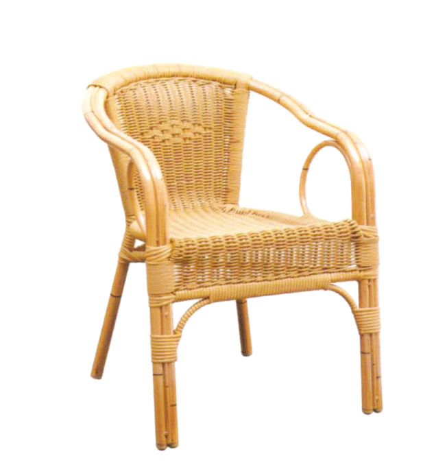 Tuwell-Best Tw3009 Aluminum Rattan Bar Chair Small Rattan Chairs