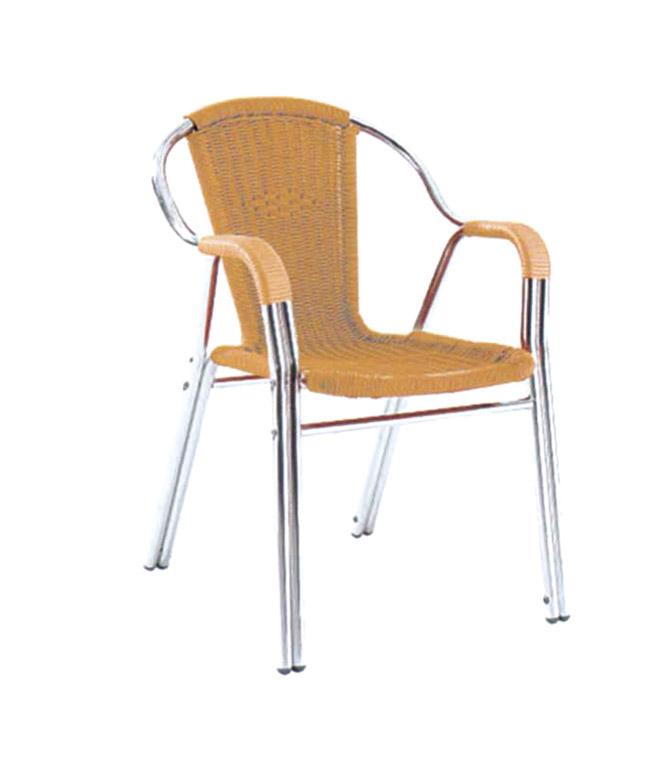 Tuwell-Best Tw3021 Aluminum Rattan Bar Chair Small Rattan Chairs-4