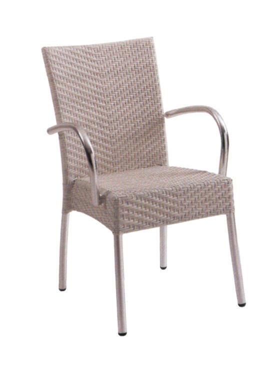 TW3026  aluminum rattan chair