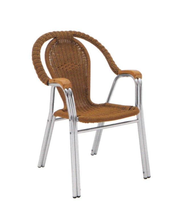 TW3027 aluminum rattan chair
