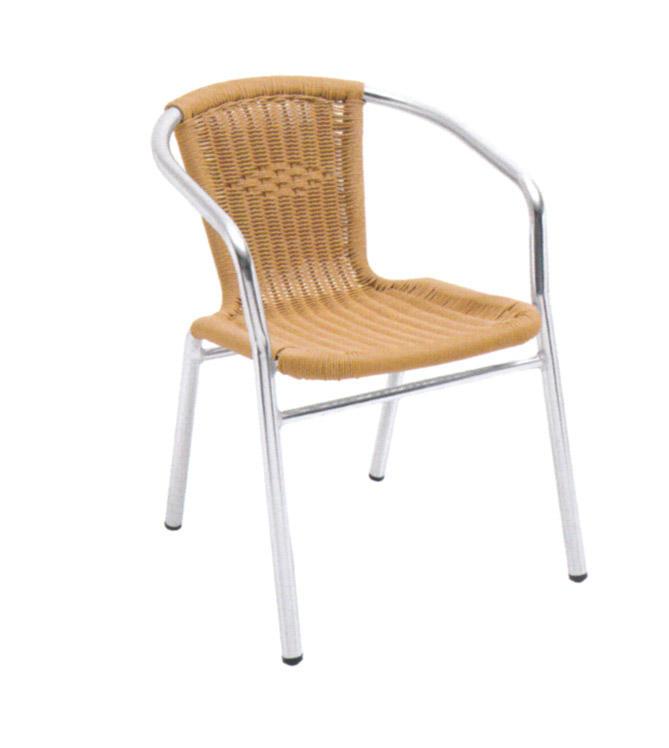 TW3028 aluminum rattan chair