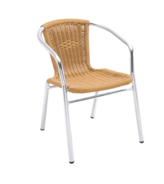Tuwell-Best Tw3028 Aluminum Rattan Bar Chair Small Rattan Chairs-4