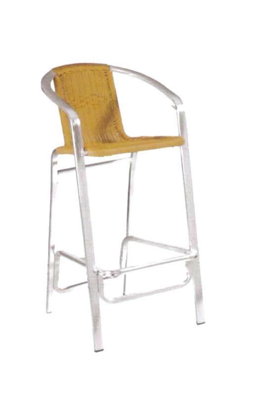 TW3029 aluminum rattan bar stool
