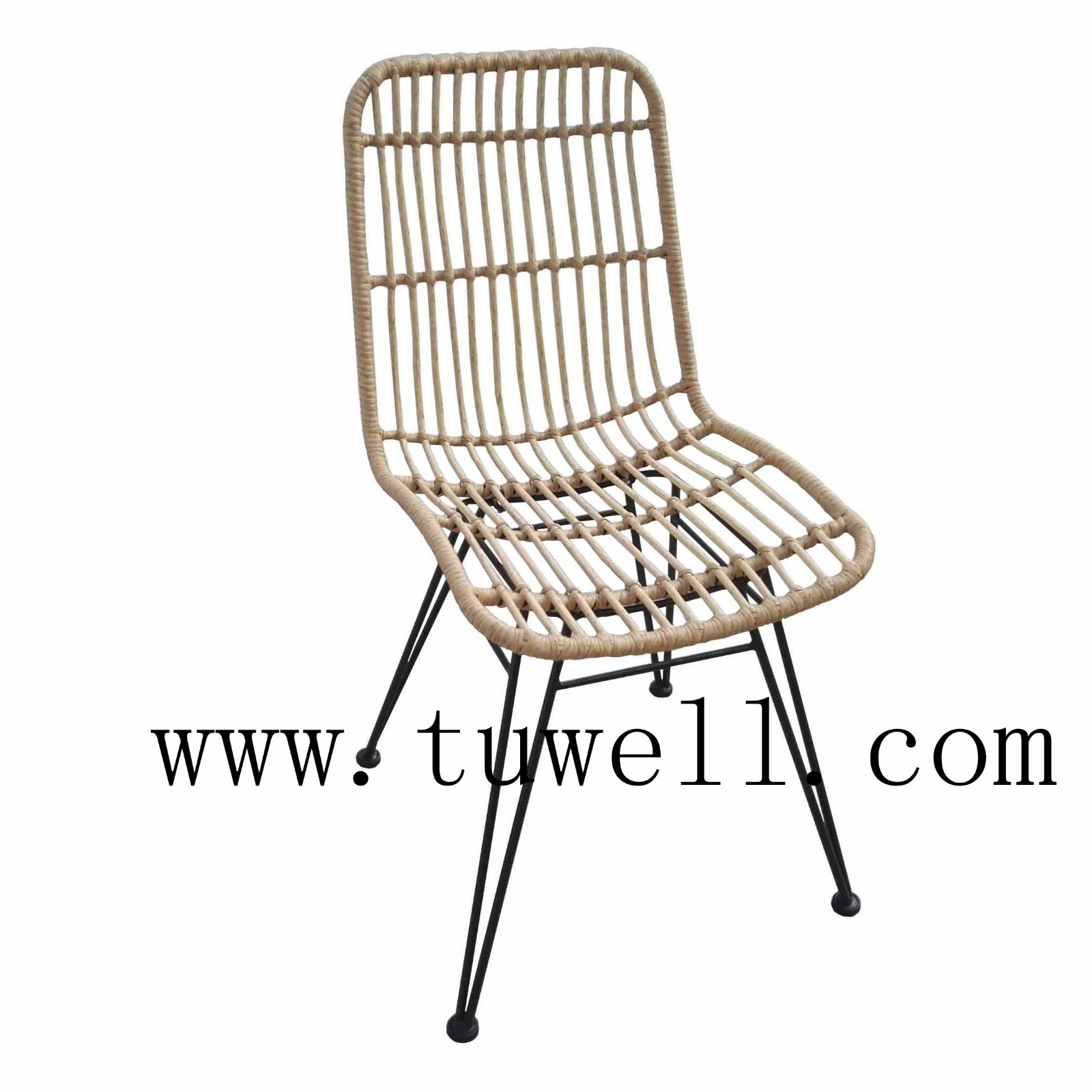 Tuwell-Find TW8708S Steel Rattan Chair-4