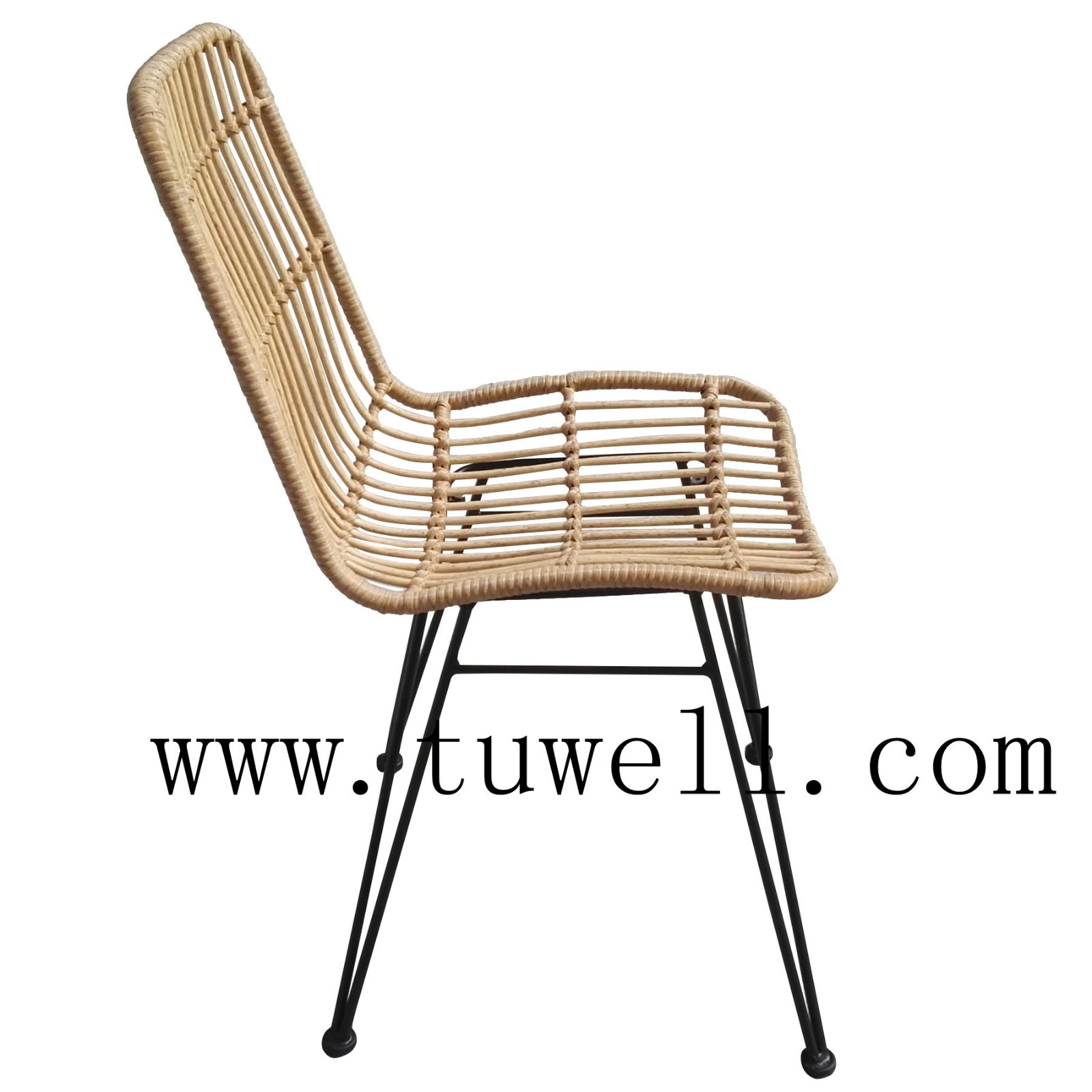 Tuwell-Find TW8708S Steel Rattan Chair-5