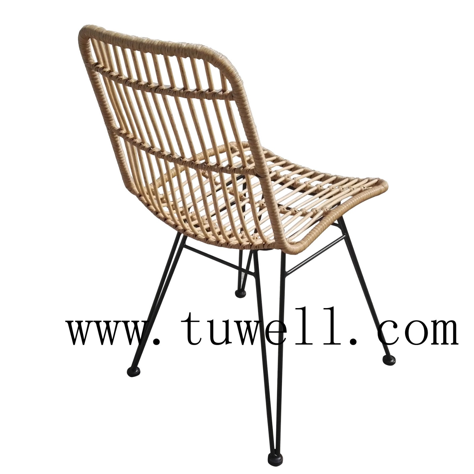 Tuwell-Find TW8708S Steel Rattan Chair-6