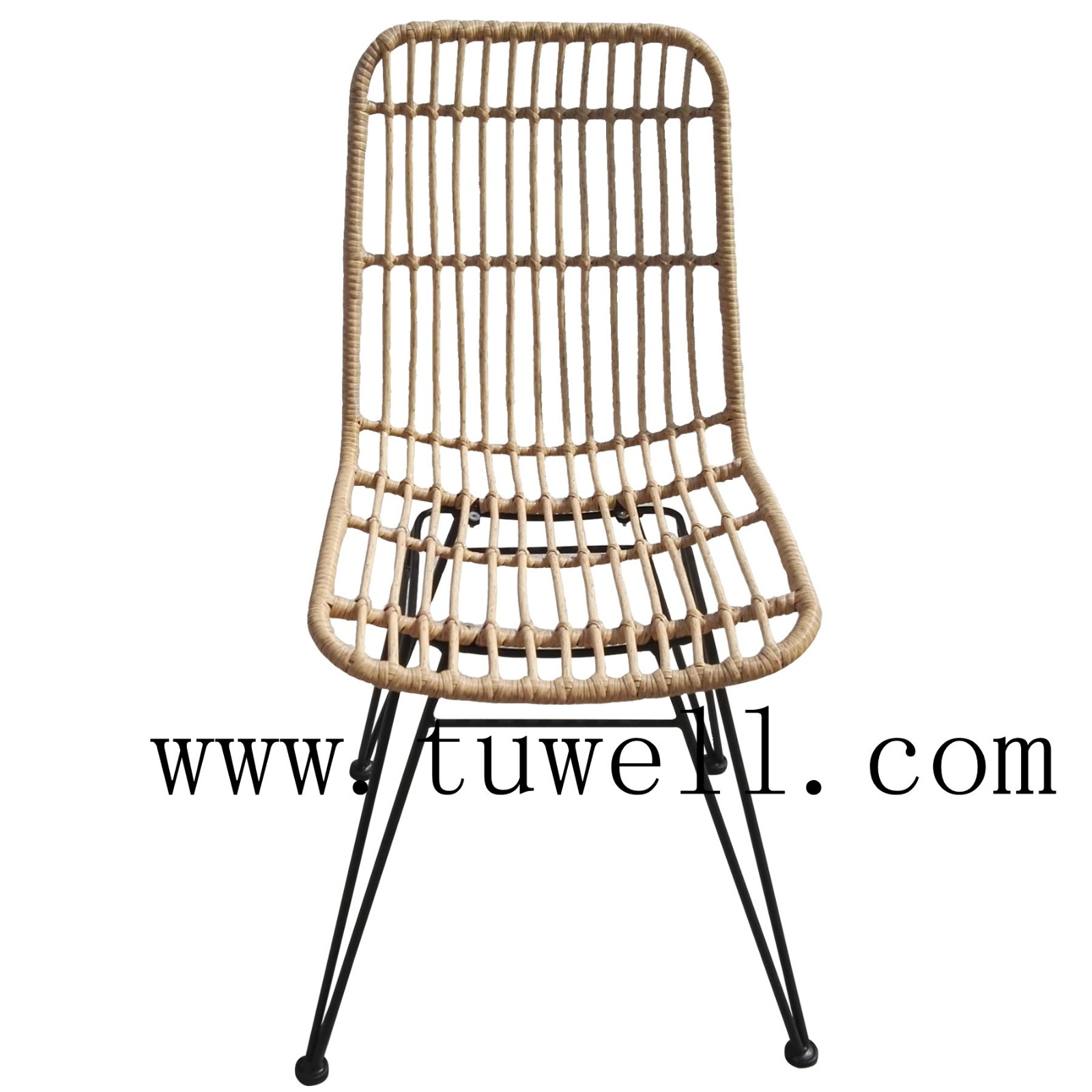 Tuwell-Find TW8708S Steel Rattan Chair-7