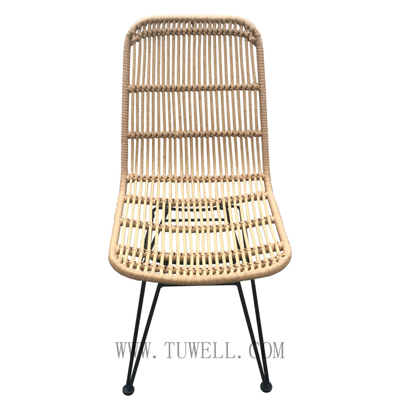 Tuwell-Find TW8714 Steel Rattan Chair-4