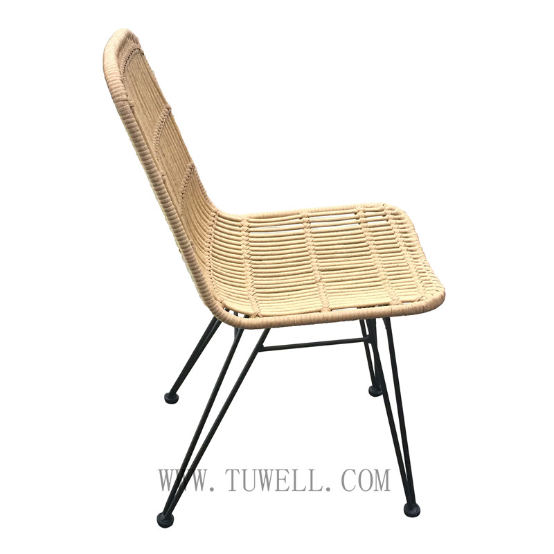 Tuwell-Find TW8714 Steel Rattan Chair-2