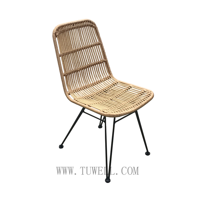 Tuwell-Find TW8714 Steel Rattan Chair-3
