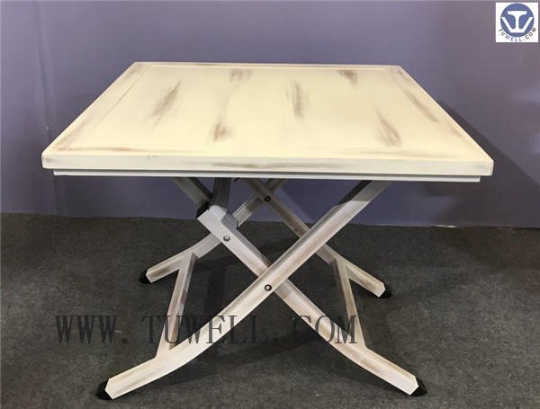TW8738 aluminum folding table indoor and outdoor vintage color antique color