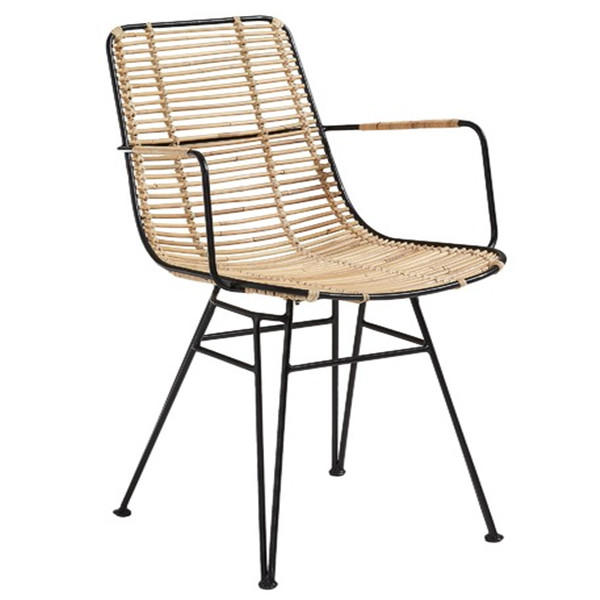 TW8762 metal Rattan chair natural dinning chair north European leisure style