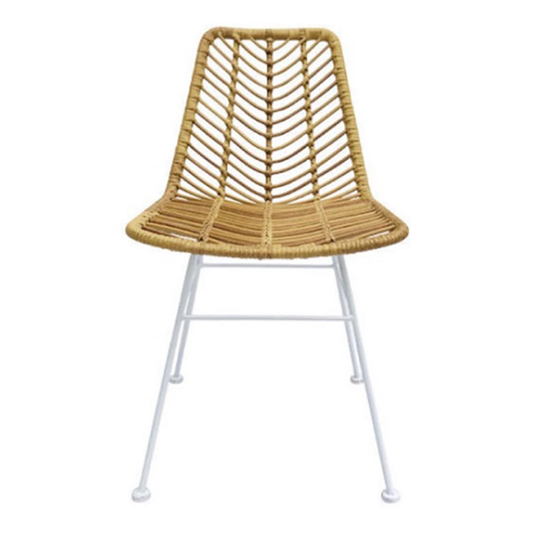 TW8728 metal Rattan chair natural dinning chair European leisure style