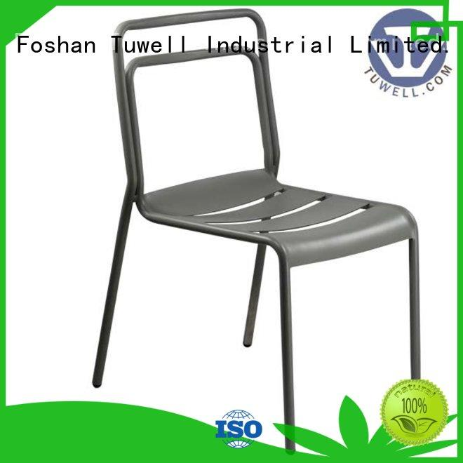 Tuwell personalized aluminum chairs wholesale for dining room