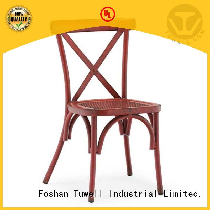 metal aluminum Self-Sabilizing cross back chairs Mounting Tuwell