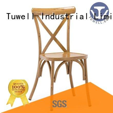 Custom cross back chairs ODM Suitable Outdoor Tuwell