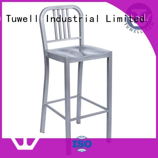 square ODE navy blue dining chairs Tuwell