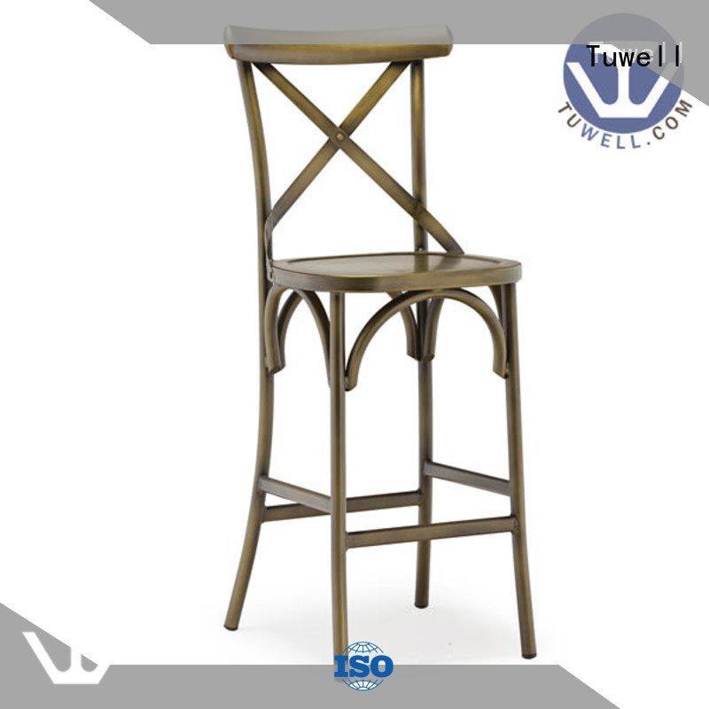 back cross metal aluminum Tuwell cross back chairs