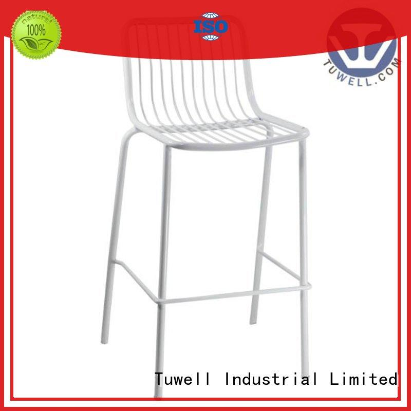durable leather and wire chair design for bar Tuwell