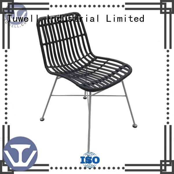 Tuwell Brand rattan design Outdoor Rattan chair wholesale Mounting