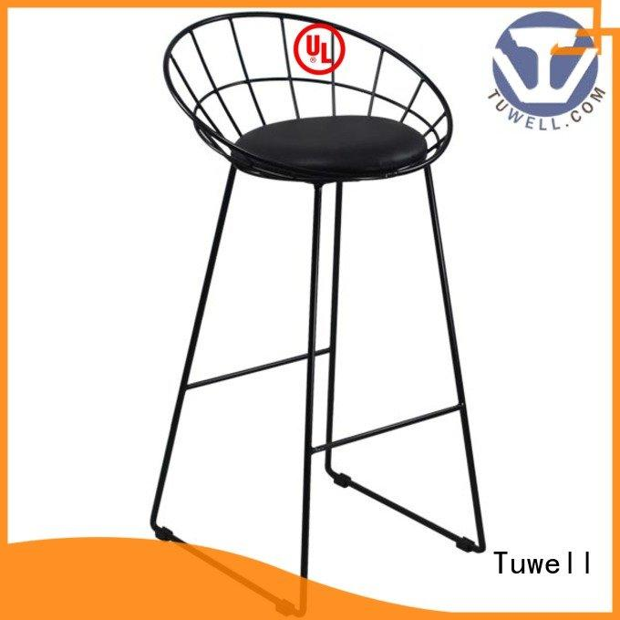 Tuwell Brand lucy wire metal black wire chair