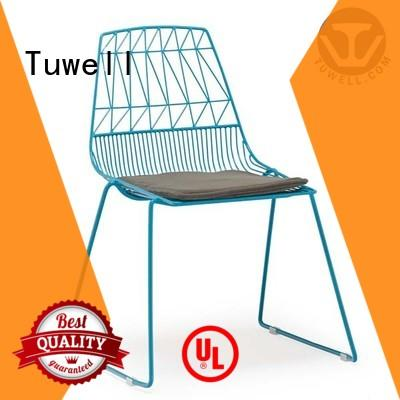 Tuwell Brand lucy steel black wire chair