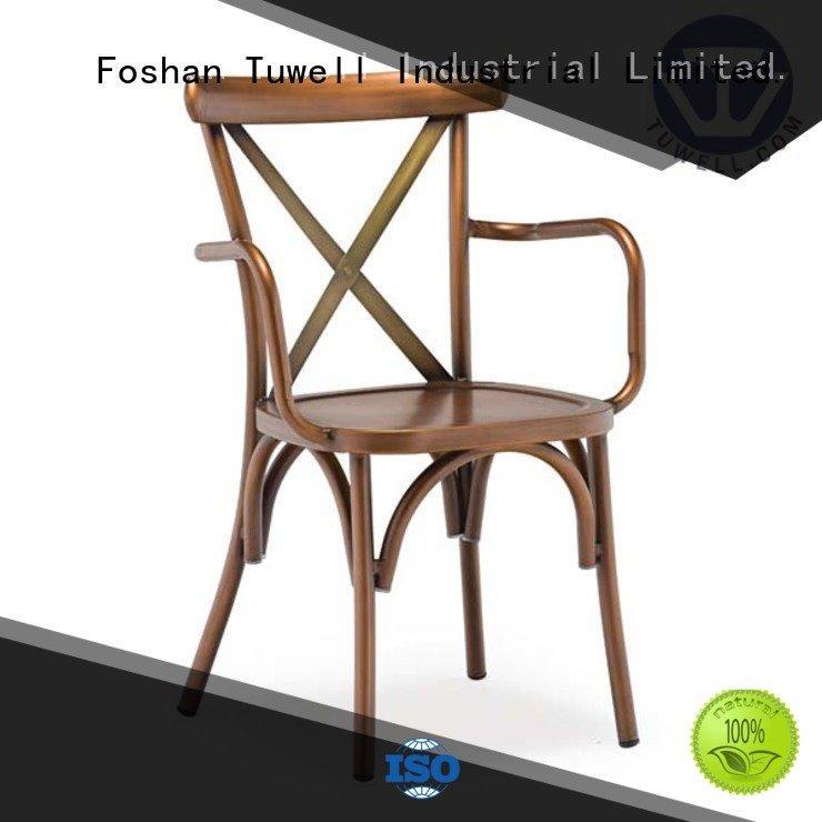 Tuwell Brand aluminum back cross back chairs cross metal