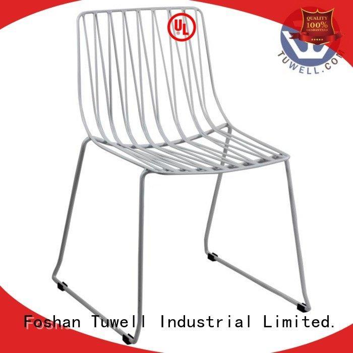 steel bar Tuwell black wire chair
