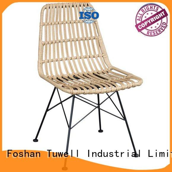 Tuwell Brand aluminum black wire chair chair Self-Sabilizing